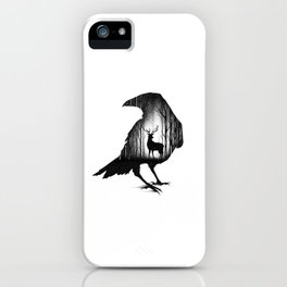 THE RAVEN AND THE DEER iPhone Case