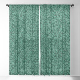 LEOPARD PRINT in GREEN | Collection : Leopard spots – Punk Rock Animal Print Sheer Curtain