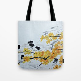 Chicks Under The Tree Tote Bag