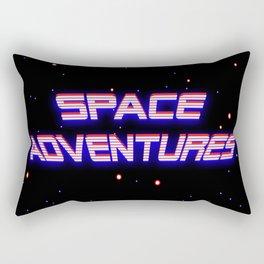 Space Adventures Arcade banner Rectangular Pillow