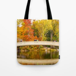 Bow Bridge at Central Park Tote Bag