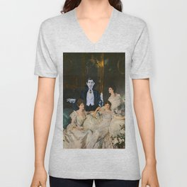 Dracula and the Wyndham Brides Unisex V-Neck