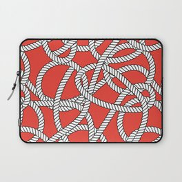 Red Rope Pattern Laptop Sleeve