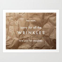 Wrinkles Art Print