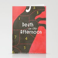 hemingway Stationery Cards featuring Death in the Afternoon, Erenst Hemingway - Book Cover by Stefanoreves
