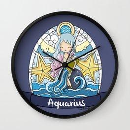 Aquarius Girl Horoscope Wall Clock
