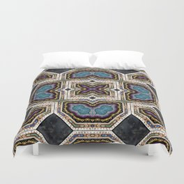 Victorian Art Deco Medieval Pattern SB 37 Duvet Cover
