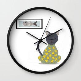 Cat in a Onesie Wall Clock