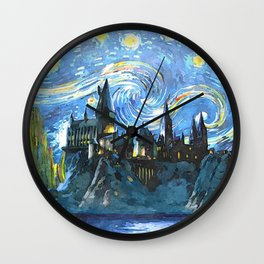 Starry Night(Hogwarts Castle) Wall Clock