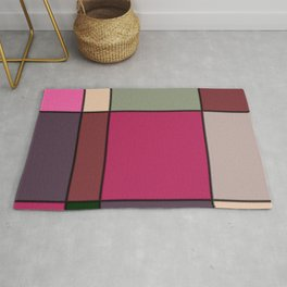 Minimalist Abstract Squares 4 Rug