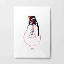 Idea Bomb (2) Metal Print