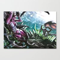 warcraft Canvas Prints featuring Apocalypse by Steuer Catherine