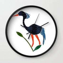 Blue Crane by Wilde Wall Clock