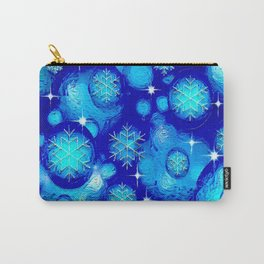 FROSTY BLUE Carry-All Pouch