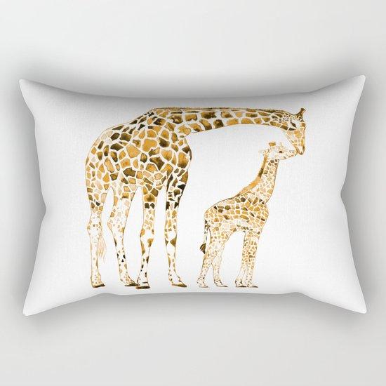 family girrafes, watercolor Rectangular Pillow