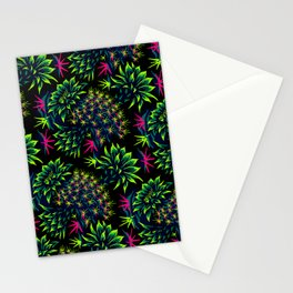 Cactus Floral - Bright Green/Pink Stationery Cards