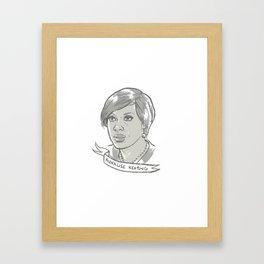 Annalise Keating Framed Art Print