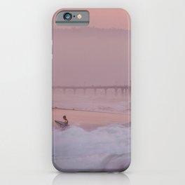 Manhattan Beach Surfer at Sunset iPhone Case