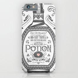 Legend of Zelda Red Potion Vintage Hyrule Line Work Letterpress iPhone Case