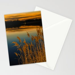 Sunset at Reedy Point Pond Rustic Landscape / Nature Photograph Stationery Cards