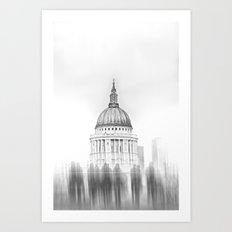 Whiteout: St Pauls Art Print