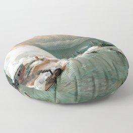 Battle Of Mobile Bay -- Civil War Floor Pillow