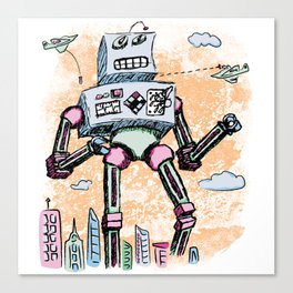 Giant Robot aka Mr. Clampy Hands Canvas Print
