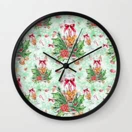 Christmas gingerbread candy cane #2 Wall Clock
