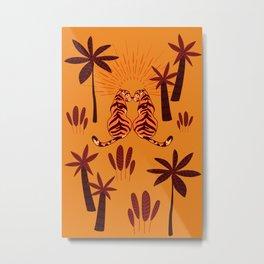 Tiger Love - Summer Sunset Metal Print