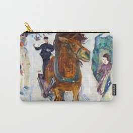 Galloping Horse by Edvard Munch Carry-All Pouch