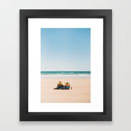 Relaxing in New Smyrna Beach Framed Art Print