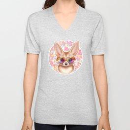 Cute Fennec Fox Unisex V-Neck