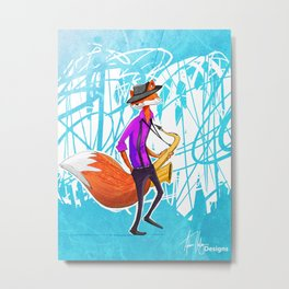 Sly the Fox Metal Print