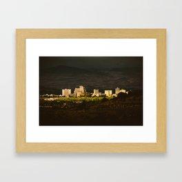 Downtown Reno Skyline Framed Art Print
