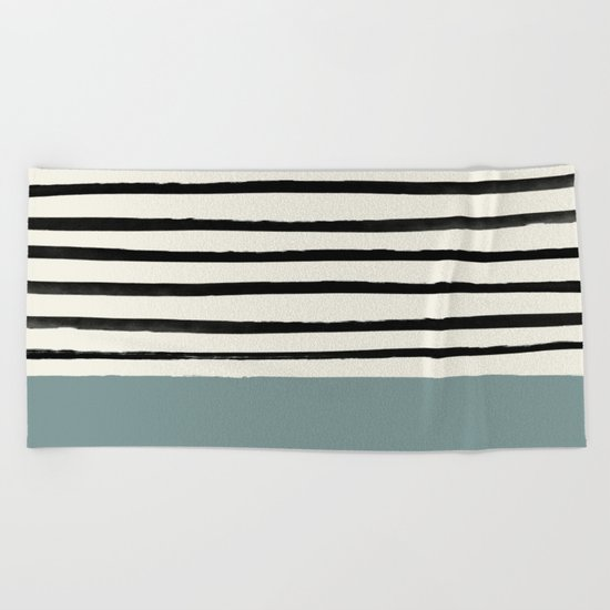 River Stone & Stripes Beach Towel