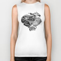 middle earth Biker Tanks featuring Middle Earth New Zealand by Guiso