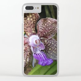 Mimi Palmer Orchid Clear iPhone Case