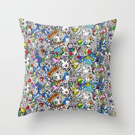 Bouncy Soul Throw Pillow