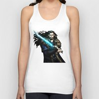 thorin Tank Tops featuring Thorin in Blue by wolfanita