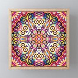Sugar Skull Mandala - Day of the Dead Mandala Art by Thaneeya McArdle Framed Mini Art Print