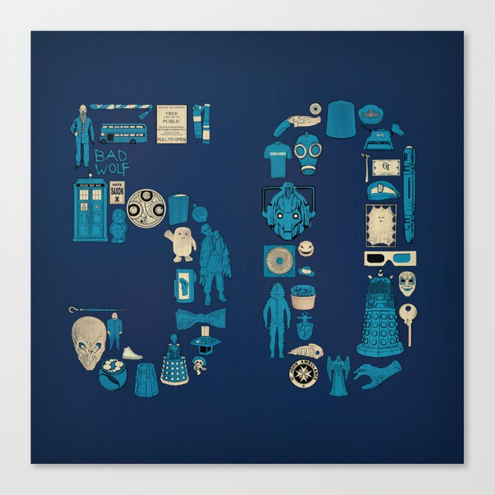 Fifty Canvas Print