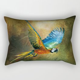 A Flash of Macaw Rectangular Pillow