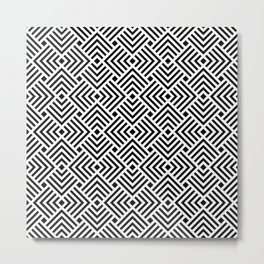 Japanese pattern with overlapping squares Metal Print