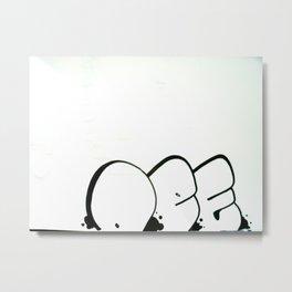 """DEF"" Throw-up *secret design* Metal Print"