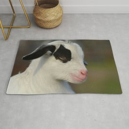 Baby Goat Portrait Rug