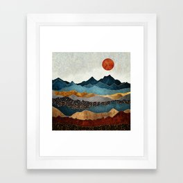 Amber Dusk Framed Art Print