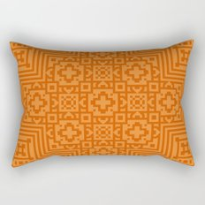 Orange Pattern Rectangular Pillow