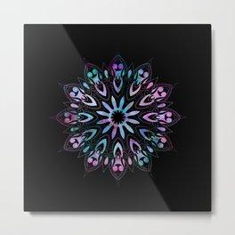 Rose Window Mandala Metal Print
