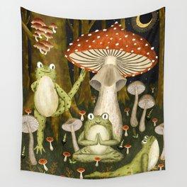 mushroom forest yoga Wall Tapestry