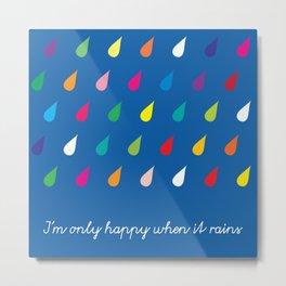 Happy Rain Metal Print